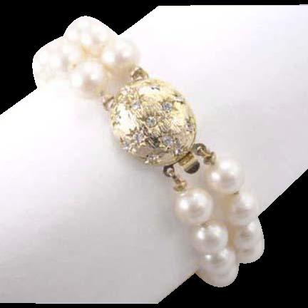 Perisana by Laguna Imitation Double Strand Glass Pearl Bracelet