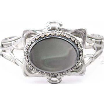 Whiting & Davis Glass Hematite Bracelet