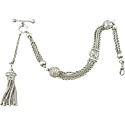 Victorian Silver Albertina Watch Chain