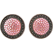 Richard Kerr Fabulous Pink Rhinestone Earrings