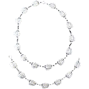 Danecraft Sterling Double Leaf Necklace & Bracelet