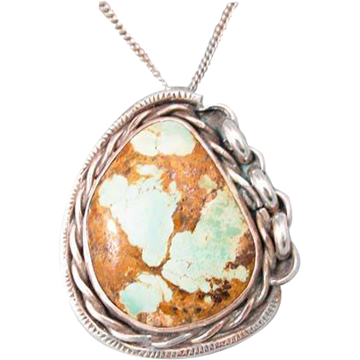 Navajo Turquoise Sterling Pendant