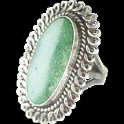 Native American Navajo Cerrillos Turquoise Sterling Ring