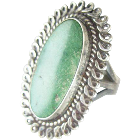 Native American Navajo Cerrillos Turquoise Sterling Ring