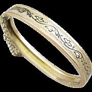 Victorian Taille D'Epargne Enamel Gold Filled Bracelet