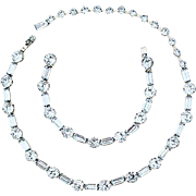 Fenichel Fabulous Light Blue Sapphire Rhinestone Necklace & Bracelet