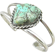 Navajo Sterling Turquoise Nugget Cuff Bracelet