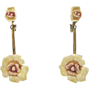 Enamel Flower Earrings by Har