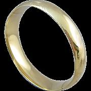 14k Gold Bangle Bracelet by G. B. Rinegold Company