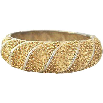 Golden Textured Bracelet by ART