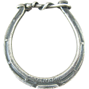 Rare Keychain/Key Ring Circa 1915 Sterling Horse Shoe