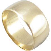 Antique Wide 14k Yellow Gold Band
