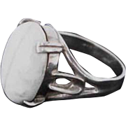 Sterling Silver White Stone Ring