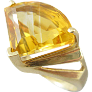 Vintage 14k Yellow Gold Citrine Ring