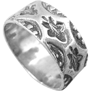 Victorian Sterling Silver Cigar Band Ring