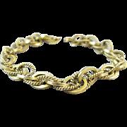 Vintage 14k Gold Fancy Link Charm Bracelet