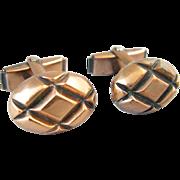 Mid-Century Copper Cufflinks