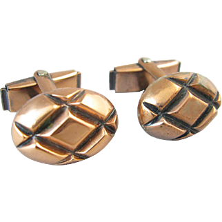 Mid-Century Copper Cufflinks
