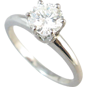 Diamond Solitaire 14k White Gold Ring