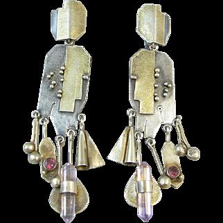 Artisan Sterling Gemstone Earrings