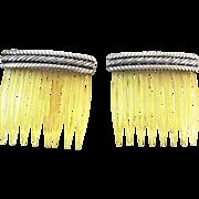 Sterling Silver Vintage Hair Combs