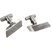 Mexico Sterling Silver and Wood Vintage Cufflinks