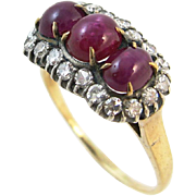 Vintage Ruby and Diamond 14k Gold Ring