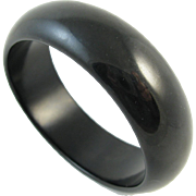 Vintage Black Bakelite Bracelet