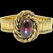 Victorian 14k Gold Garnet Bracelet