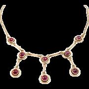 Vintage Garnet and Sterling Necklace