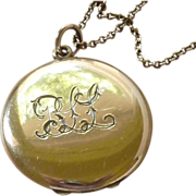Antique Monogrammed Gold Filled Locket