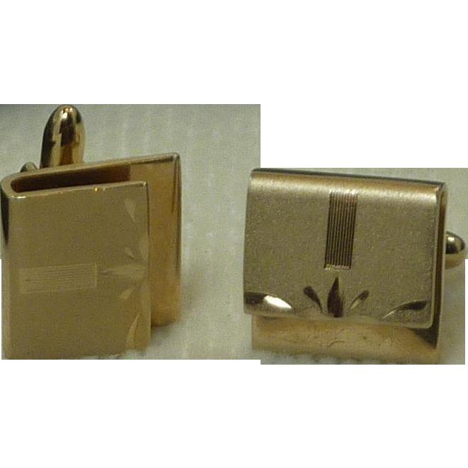 Gold Tone Envelope Look Cufflinks Cuff Links