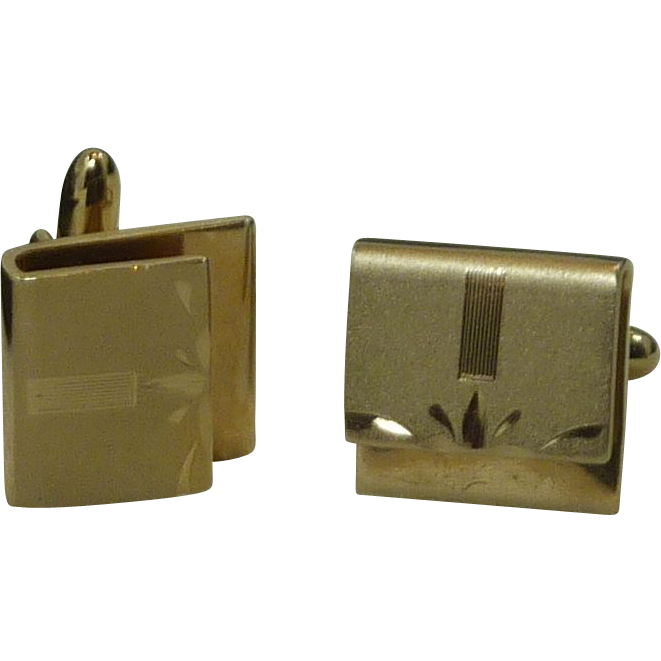 Gold Tone Envelope Look Cufflinks Cuff Links