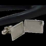 Sterling Silver Rectangle Cuff Links Cufflinks