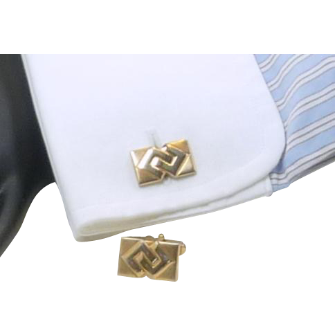 Anson Gold Tone Rectangular Cufflinks Cuff Links