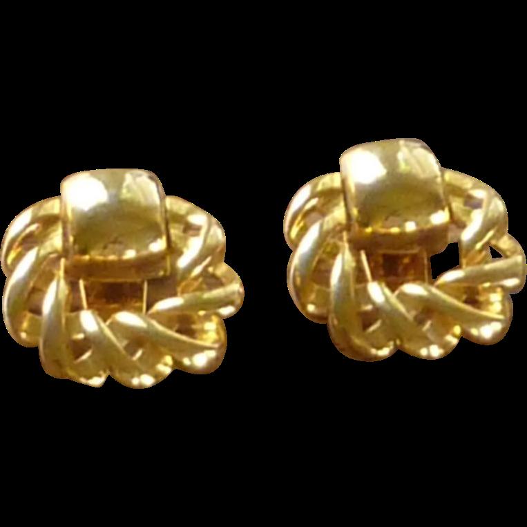 Gold Tone Shoe Buckle Clip Ornament