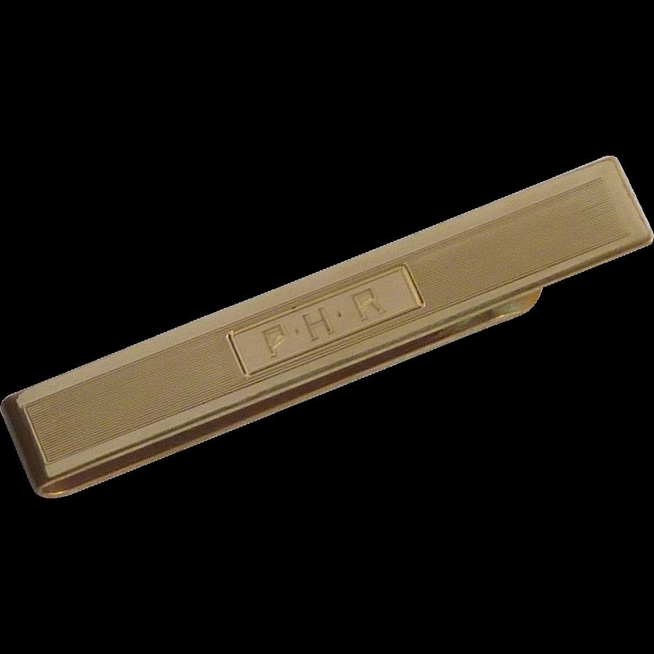PHR Gold Tone Standard Tie Bar Slide