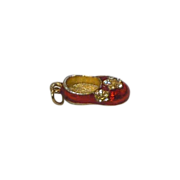 Red Flat Shoe Charm with Rhinestones