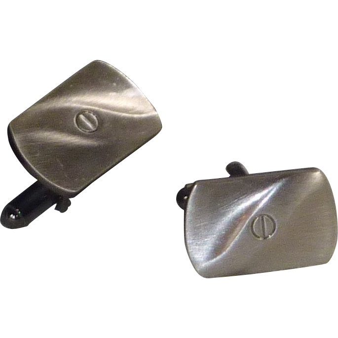 Simply Faux Pewter Look Cufflinks Cuff Links