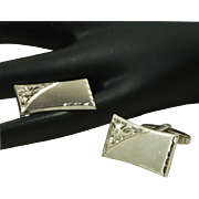Sterling Silver Foster Rectangular Cufflinks Cuff Links