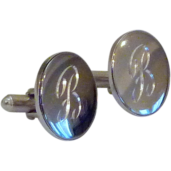 B Personalized Initial Monogram Cufflinks Cuff Links