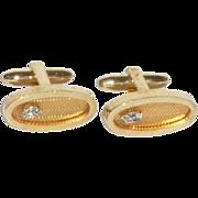Speidel Gold Tone Diamond Rhinestone Cuff Link Cufflinks