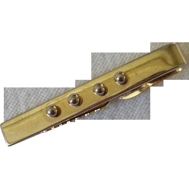Gold Tone Bar Clip 1950's Retro Look