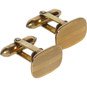 Gold Filled Small Rectangle Cufflinks Cuff Links