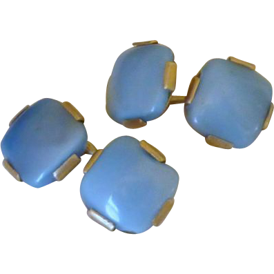 Moon Glow Thermoplastic Blue Cufflinks Cuff Links