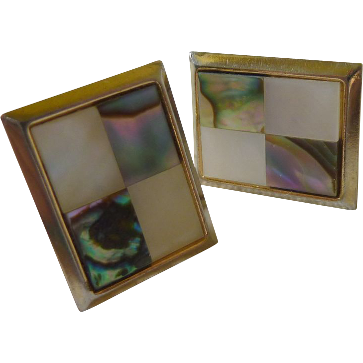 Abalone & Mother of Pearl Cuff Links Cufflinks
