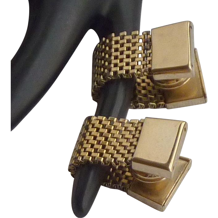 Gold Tone Snap Wrap Around Cuff Links Cufflinks