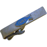 IXOUS the Fish Silver Tone Tie Bar