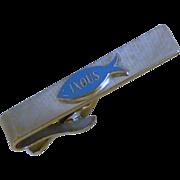 IXOUS the Fish Silver Tone Tie Bar