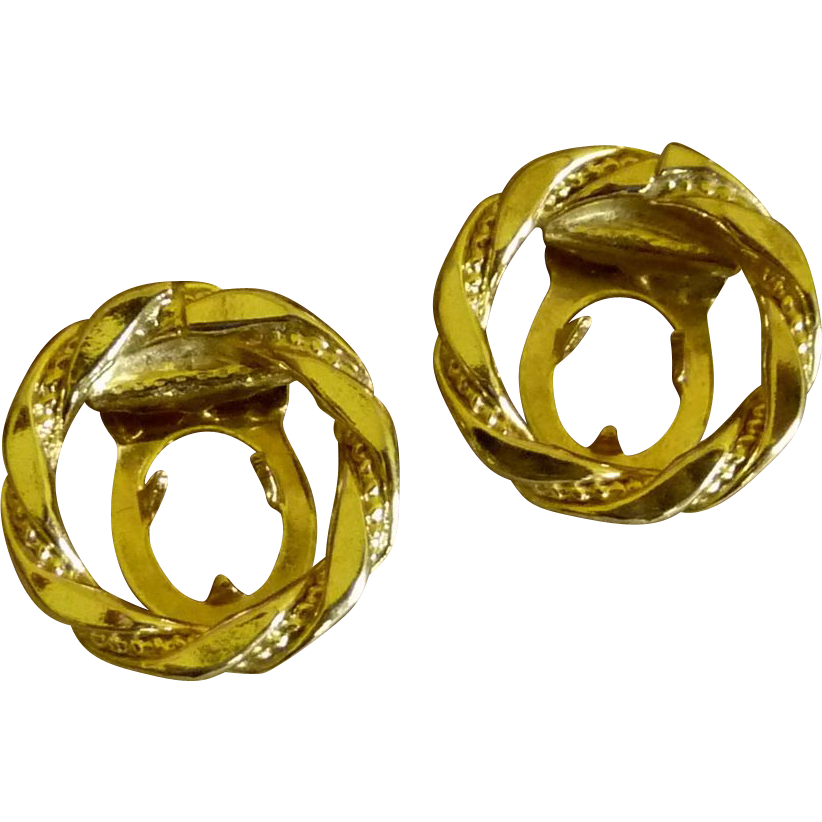 Small Gold Tone Round Shoe Clips